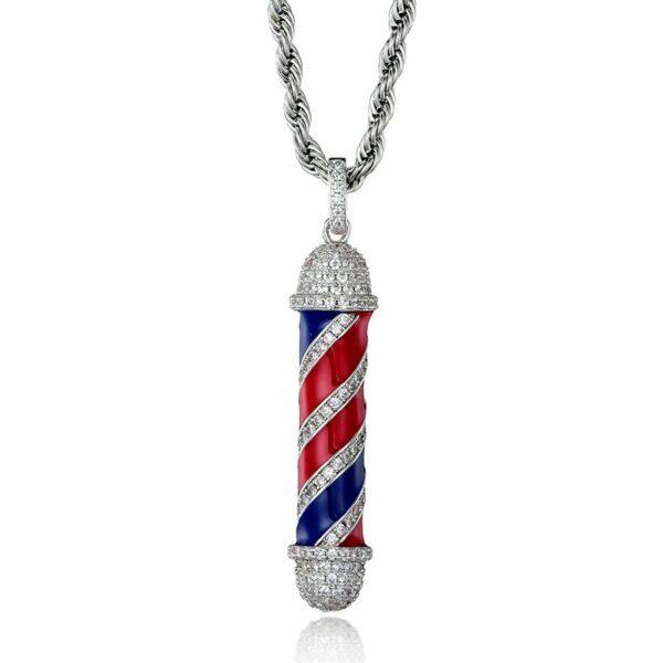 Barber Pole Bling Necklace